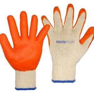 Luva Proteplus tricotada antiderrapante látex liso